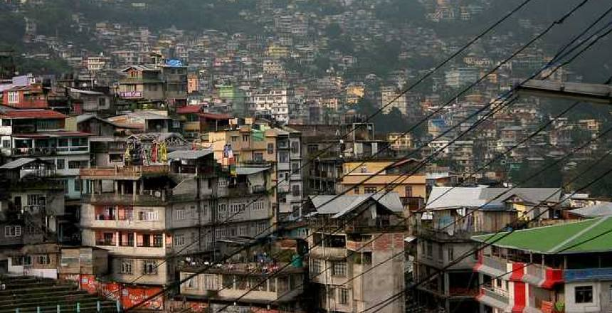 The houses in Kalimpong